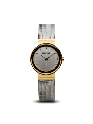 Bering ladies stainless steel milanese strap two tone watch