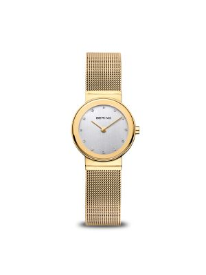 Classic | polished gold bering watch