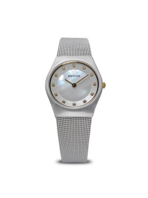 Classic brushed silver Bering Watch