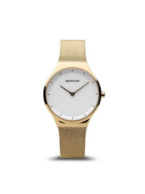 Classic Polished Gold Bering Ladies Watch 2