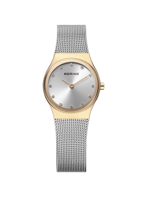 Ladies Bering classic two tone milanese strap watch