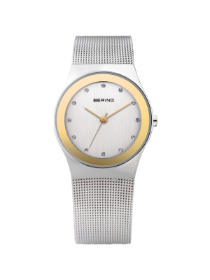 Bering ladies two tone milanese strap watch