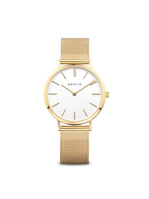 Ladies Bering Gold Tone Milanese Strap Watch