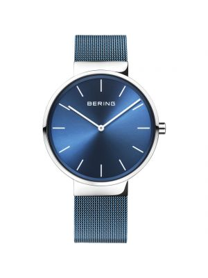 Bering unisex blue milanesestrap watch