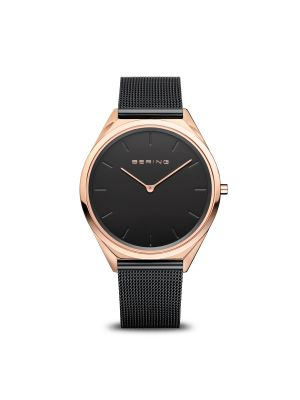 Ultra Slim Polished Rose Gold Bering Watch