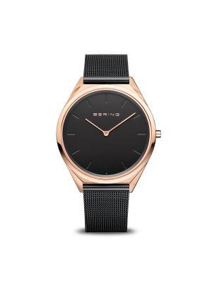 Ultra Slim Polished Rose Gold Bering Watch