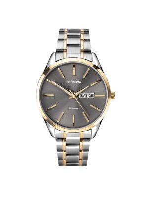 Sekonda Men's Grey Dial Two-Tone Watch
