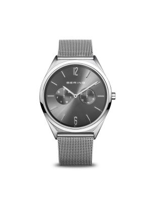 Ultra Slim Bering polished/brushed silver watch