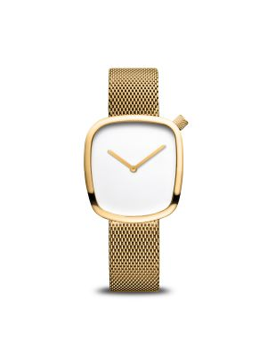Classic polished gold Bering watch