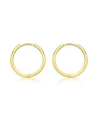 9ct Yellow Gold 14mm Polished Huggy Hoop Earring