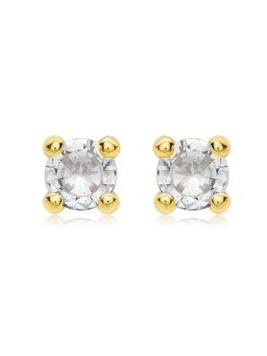 9ct Yellow Gold 5mm CZ Stud Earrings