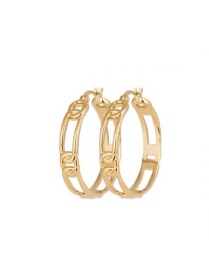 18ct Yellow Gold Microplated Chain Link Hoop Earrings