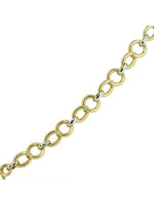 14ct two tone circular link bracelet