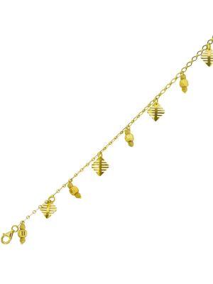 14ct Italian design charm bracelet