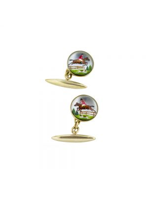 9ct yellow gold showjumper cufflinks
