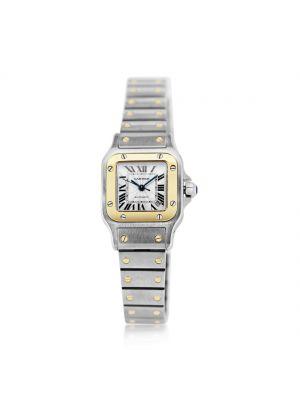 Cartier Santos Ladies 18ct yellow gold & steel watch
