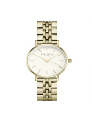 Rosefield The Small Edit White Steel Gold Ladies Watch