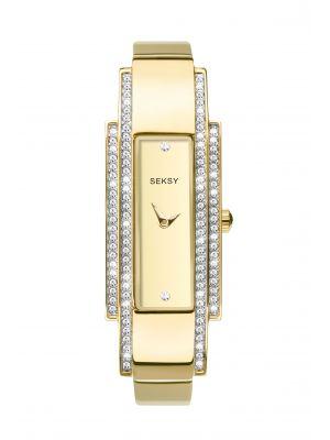 Seksy Women's Two-Tone Gold Plated Bracelet Watch