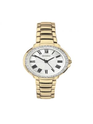 Sekonda gold plated and stone set ladies watch