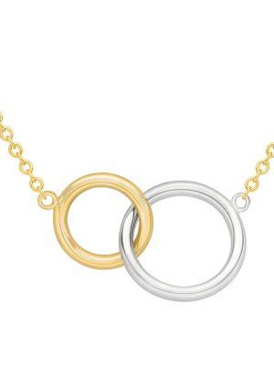 9ct Two Tone Interlocking Ring Pendant