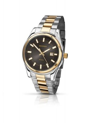 Sekonda Gents Two Tone dress watch with black dial