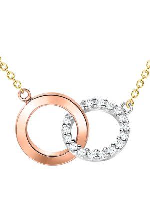 9ct Three Tone Interlocking Ring Pendant