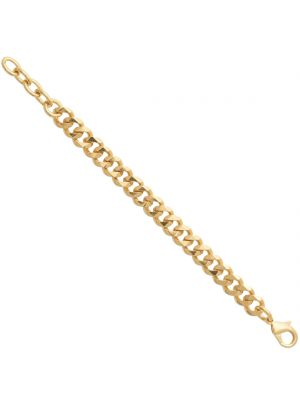 18ct gold microplated curb style chain link bracelet (21cm)