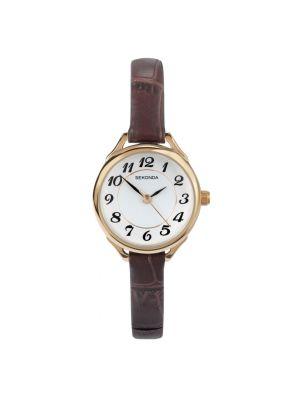 Sekonda Women's Gold Case Strap Watch