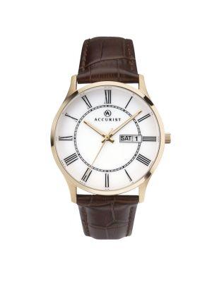 Accurist Men's Leather Strap Watch
