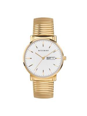 Men's Gold  Accurist Expander Watch