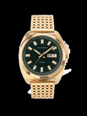 Men's Retro Green Dial Gold Watch