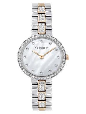 Accurist Women's Two Tone Stone Set Watch
