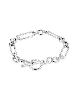 Silver Figaro Belcher Bracelet with  T-Bar