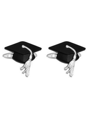 Stainless Steel Graduation Cap Cufflinks