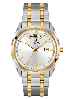Gents Bulova Two Tone Classic Surveyor watch