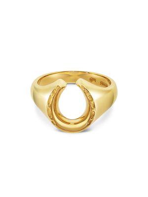 9ct Yellow Gold Gent's Horseshoe Ring