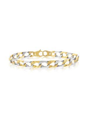 9ct White & Yellow Gold Link Bracelet