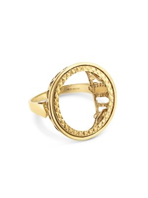 9ct Yellow Gold Gent's Sovereign Mount Ring