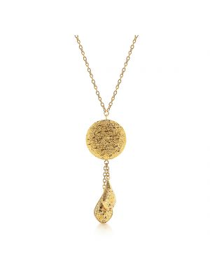 9ct yellow gold drop pendant