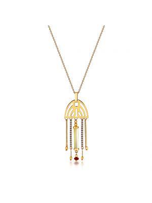 14ct yellow gold italian stone set pendant