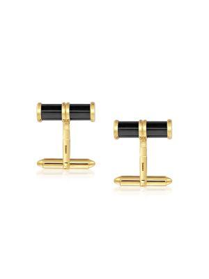 9ct Yellow Gold Hematite Cufflinks