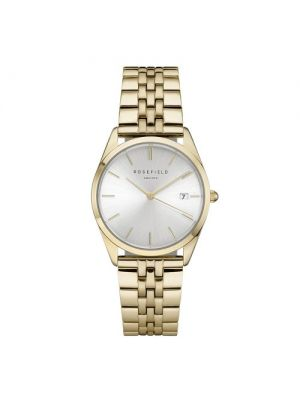 The Ace Silver Sunray Gold Watch by Rosefield