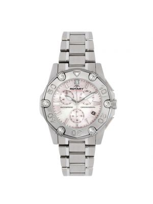 Ladies Rotary Chronograph Stainless Steel Bracelet Watch