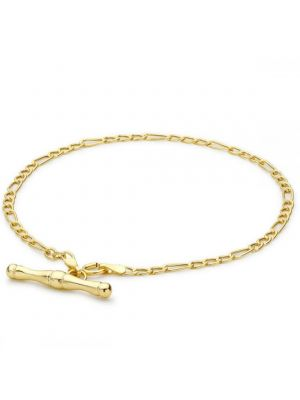 9ct Yellow Gold Figaro Style Lightweight Albert T-Bar Bracelet