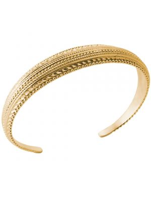 18kt Gold Plated Wide Span Decorative Bangle