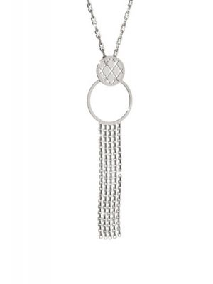 Rebecca long chain with circular hoop & tassle design
