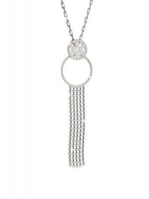 Rebecca long chain with circular hoop & tassle design