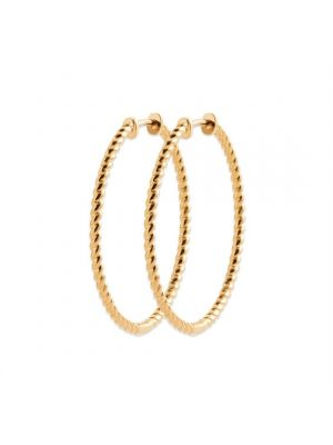 18ct yellow gold microplated large hoop earrings