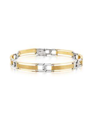 9ct Gent's Two Tone Bracelet