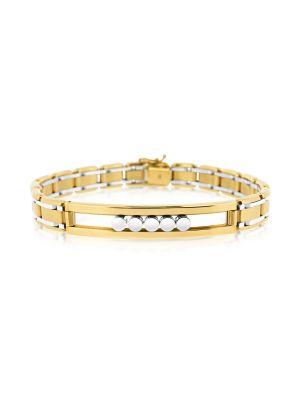 Gent's White & Yellow Gold Bracelet